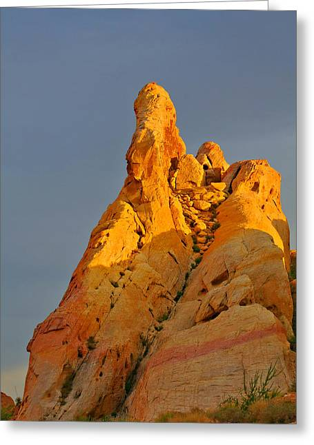 Vibrant Greeting Cards - Vibrant Valley of Fire Greeting Card by Christine Till