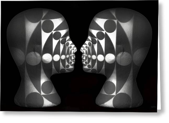Op-art Greeting Cards - Vibrating Forms Greeting Card by Jeff  Gettis