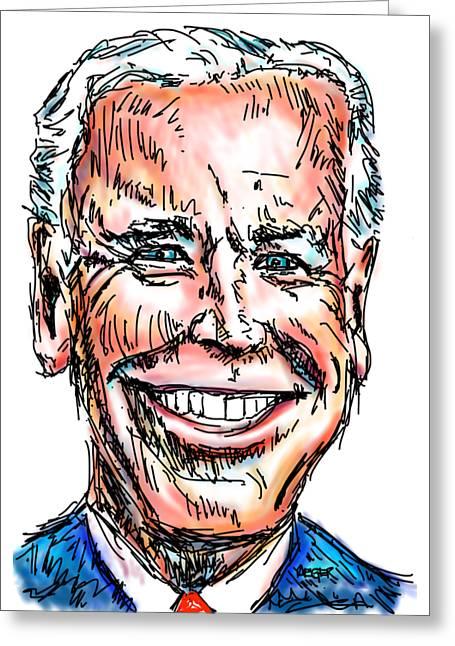 Vice President Joe Biden Greeting Card by Robert Yaeger