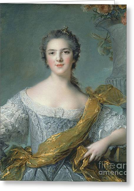 Embroidery Greeting Cards - Victoire de France at Fontevrault Greeting Card by Jean Marc Nattier