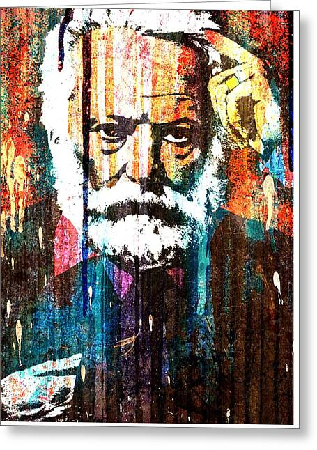 Victor Hugo Abstract Greeting Card by Otis Porritt