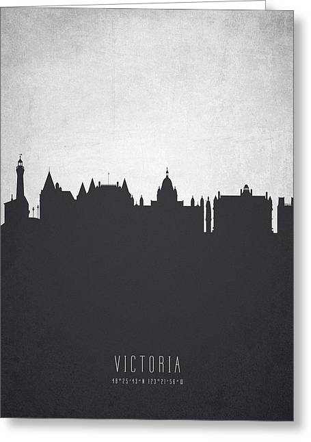 Victoria British Columbia Cityscape 19 Greeting Card by Aged Pixel
