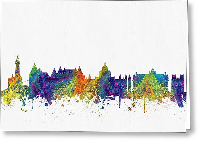 Victoria British Columbia Skyline Color03 Greeting Card by Aged Pixel