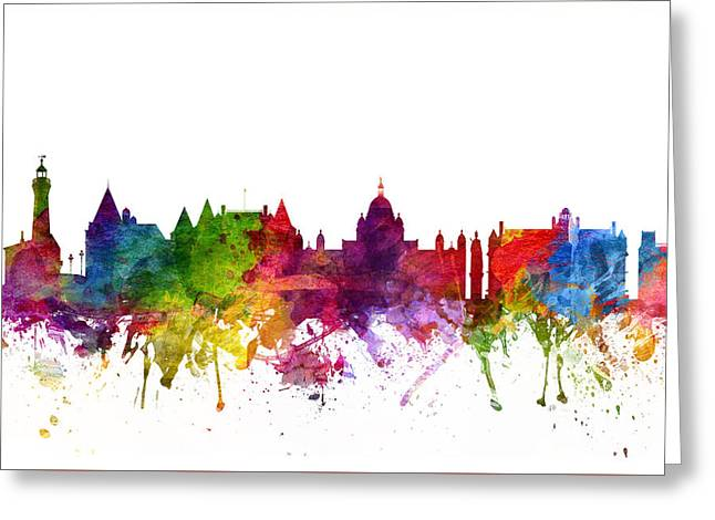 Victoria Greeting Cards - Victoria Canada Cityscape 06 Greeting Card by Aged Pixel
