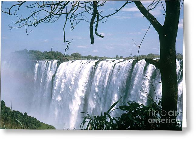 Zambia Waterfall Greeting Cards - Victoria Falls Greeting Card by Photo Researchers, Inc.