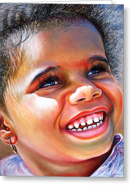 Kid Pastels Greeting Cards - Victoria In The Park Greeting Card by Dennis Rennock