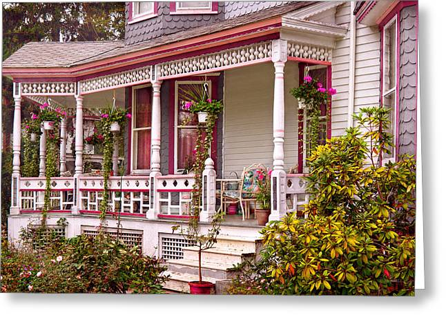 Vintage Painter Greeting Cards - Victorian - Belvidere NJ - The beauty of Spring  Greeting Card by Mike Savad