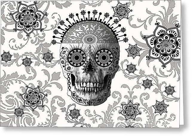 Victorian Bones Greeting Card by Christopher Beikmann