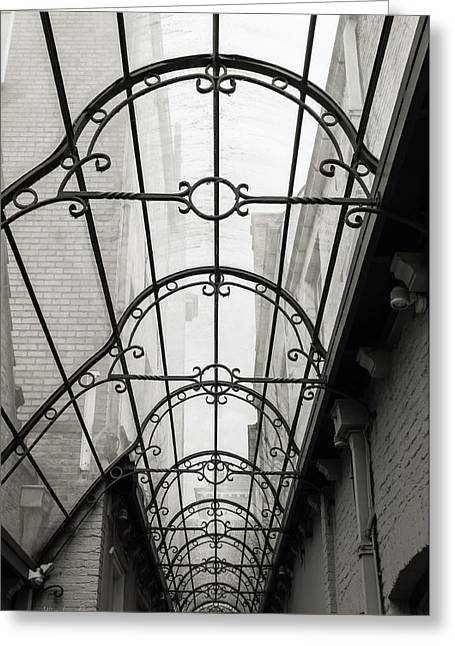 Victorian Glass Roof Greeting Card by Wim Lanclus