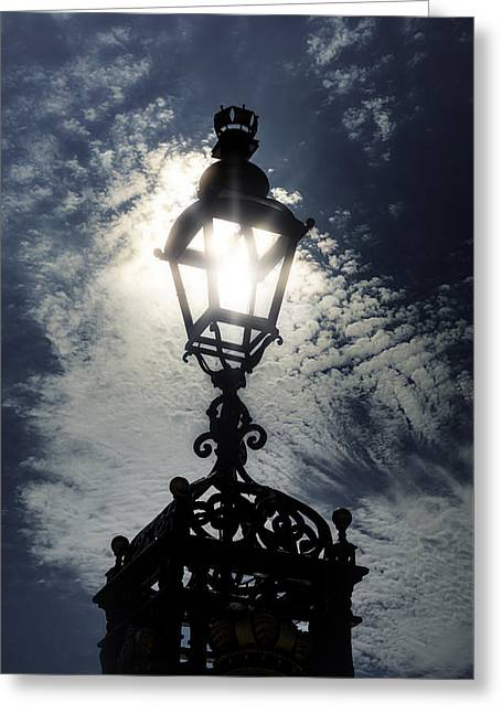 Street Lamps Greeting Cards - Victorian lamp post Greeting Card by Joana Kruse