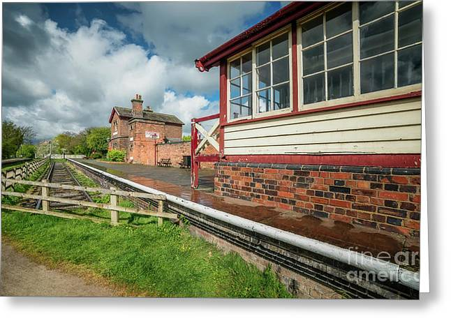 Victorian Railway Station Greeting Card by Adrian Evans