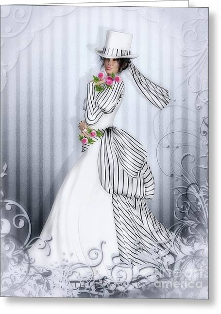 Victorian Rose Greeting Card by Shanina Conway