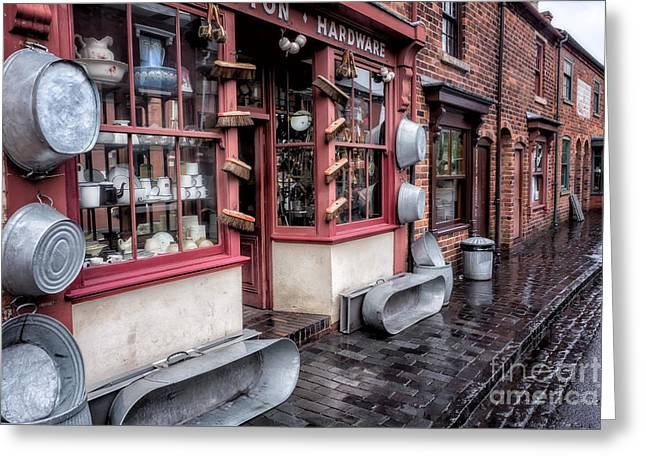 Store Fronts Greeting Cards - Victorian Stores Greeting Card by Adrian Evans