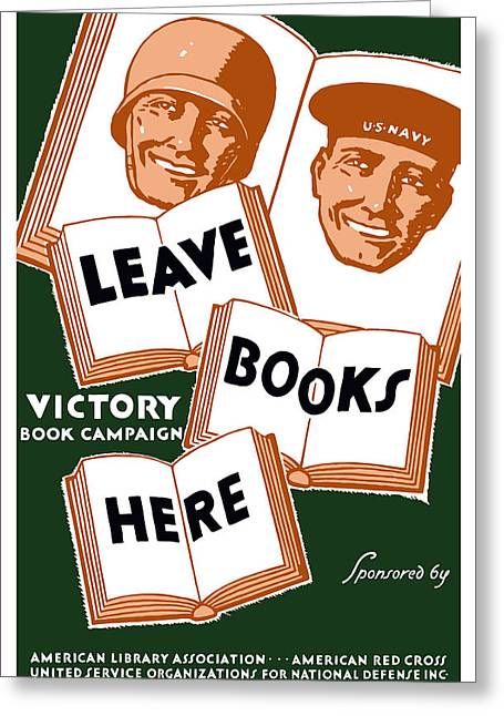Library Greeting Cards - Victory Book Campaign Greeting Card by War Is Hell Store