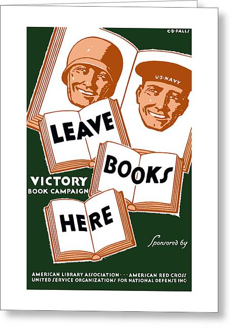 Victory Book Campaign - Wpa Greeting Card by War Is Hell Store
