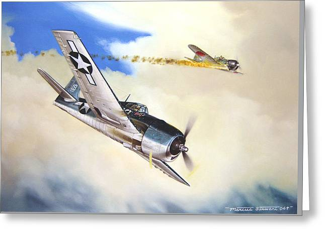Flight Greeting Cards - Victory For Vraciu Greeting Card by Marc Stewart