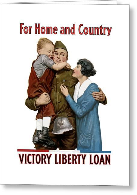 War Propaganda Greeting Cards - Victory Liberty Loan Greeting Card by War Is Hell Store