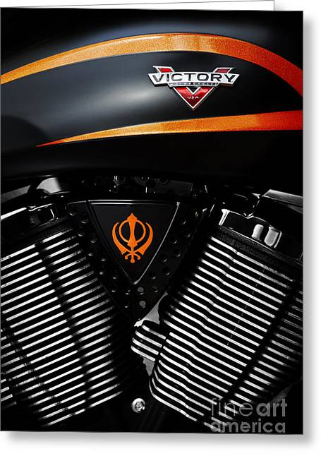 Victory Greeting Cards - Victory Motorcycles Greeting Card by Tim Gainey