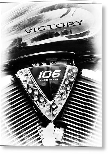 V Twin Greeting Cards - Victory Vegas 8 Ball Greeting Card by Tim Gainey