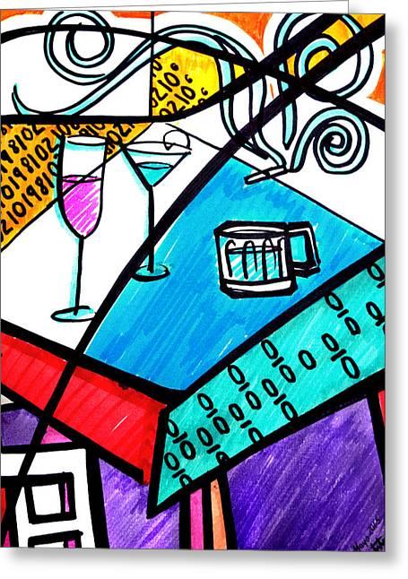 Vida Greeting Cards - Vida Vs Vida Greeting Card by Pedro Bautista Mendez