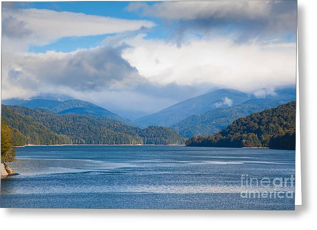 Carpathian Mountains Greeting Cards - Vidraru Lake Greeting Card by Gabriela Insuratelu