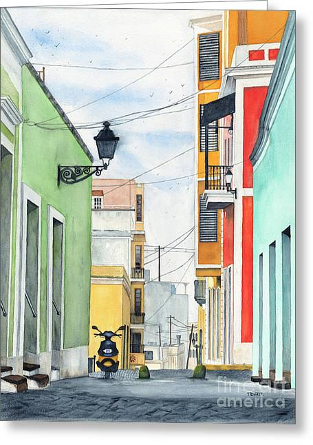 San Juan Puerto Rico Greeting Cards - Viejo San Juan Greeting Card by Tom Dorsz