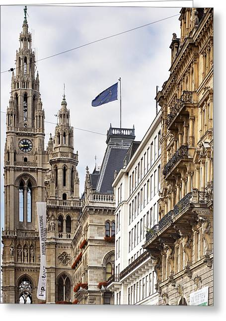 Wien Greeting Cards - Vienna City Hall Greeting Card by Andre Goncalves