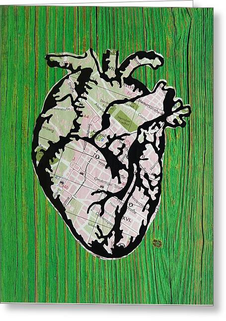 Medical Greeting Cards - Vienna Heart Greeting Card by Desiree Warren