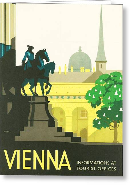 Old Town Digital Greeting Cards - Vienna Greeting Card by Nomad Art And  Design