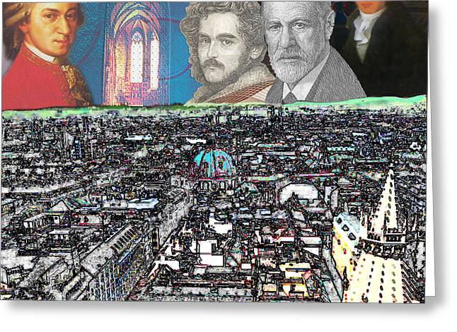 Freud Digital Art Greeting Cards - Viennese Visitants Greeting Card by John Scariano