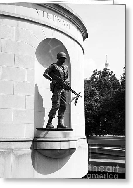 Seat Of Power Greeting Cards - Vietnam War Memorial  Greeting Card by Thomas R Fletcher