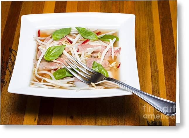 Vietnamese Pho Soup Greeting Card by Jorgo Photography - Wall Art Gallery