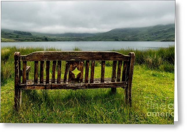 Storm Digital Art Greeting Cards - View Across The Lake Greeting Card by Adrian Evans