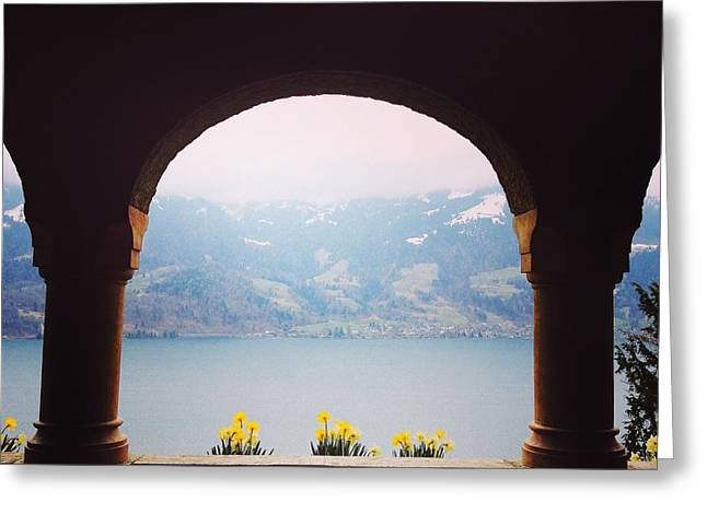 Swiss Photographs Greeting Cards - View from Beatus Greeting Card by Manda Koepp-Piesche