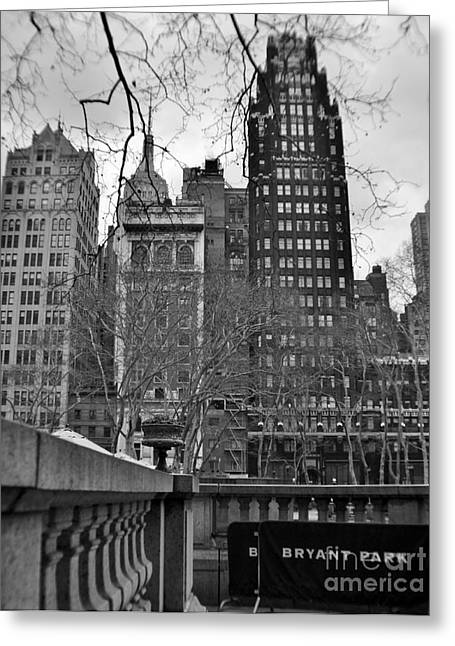 Bryant Greeting Cards - View From Bryant Park 2 Greeting Card by Chet B Simpson