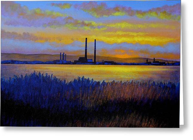 Poster Board Greeting Cards - View From Clontarf - Dublin Greeting Card by John  Nolan
