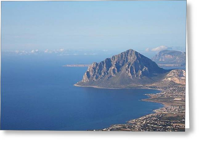 Erice Greeting Cards - View from Erice Greeting Card by Beverly Kay