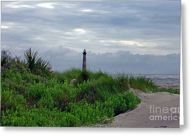 Ocean Art Photos Greeting Cards - View From Folly Beach Sc Greeting Card by Skip Willits