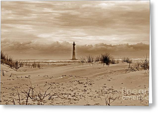 Ocean Art Photos Greeting Cards - View From Folly Greeting Card by Skip Willits