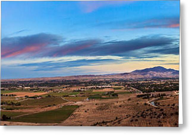 Haybale Greeting Cards - View From Freezout Hill Memorial Greeting Card by Robert Bales