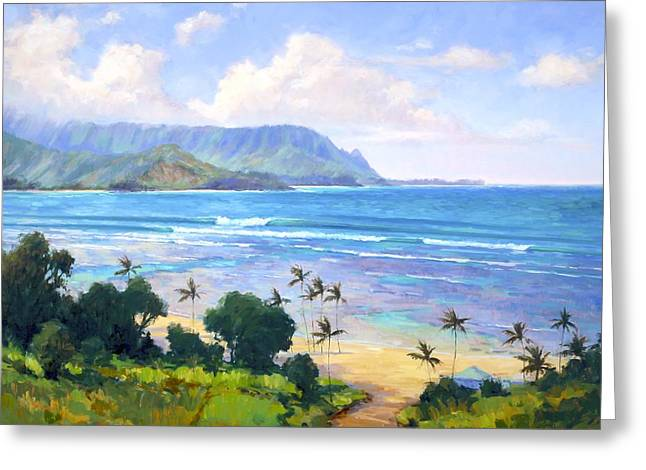 View From Hanalei Bay Resort Greeting Card by Jenifer Prince