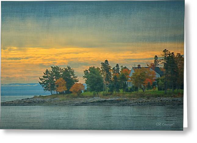 View From La Malbaie Greeting Card by CR  Courson