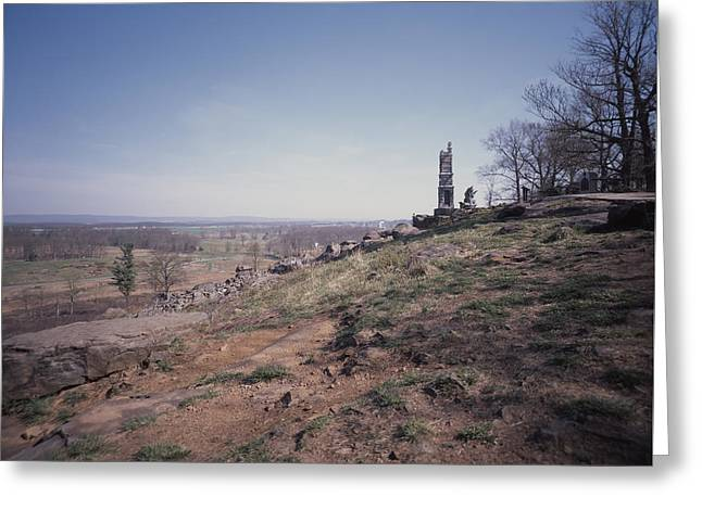 2nd Corps Greeting Cards - View from Little Round Top Greeting Card by Bill McMannis