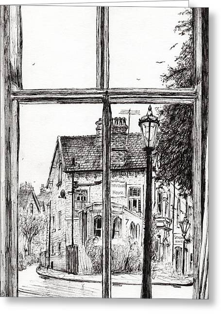 Old Street Greeting Cards - View from Old Hall Hotel Greeting Card by Vincent Alexander Booth