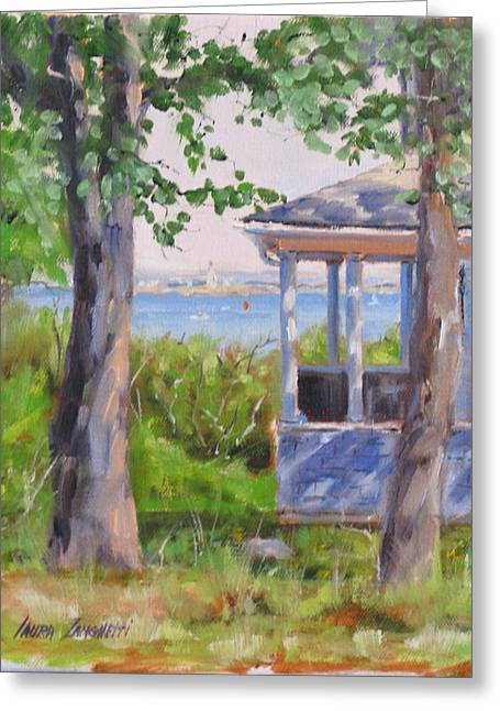 Boston Ma Greeting Cards - View from Pointe Allerton Greeting Card by Laura Lee Zanghetti