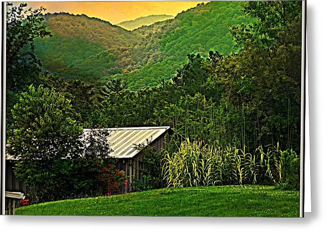 Tin Roof Greeting Cards - View From Tater Hill Road Greeting Card by Kathy Barney