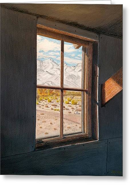 View From The Barracks Greeting Card by Joy Lavery