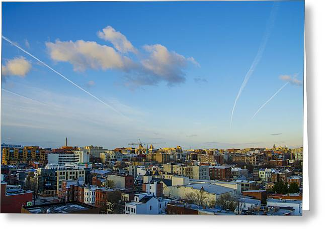 Cambria Digital Greeting Cards - View from the Cambria Hotel - Washington DC Greeting Card by Bill Cannon