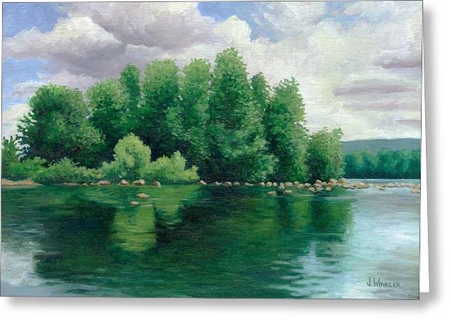 View From The Canoe Greeting Card by Joe Winkler