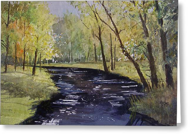 Stream Greeting Cards - View From The Covered Bridge Greeting Card by Ryan Radke
